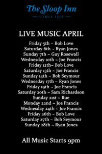 April Live Music in the Cellar Bar