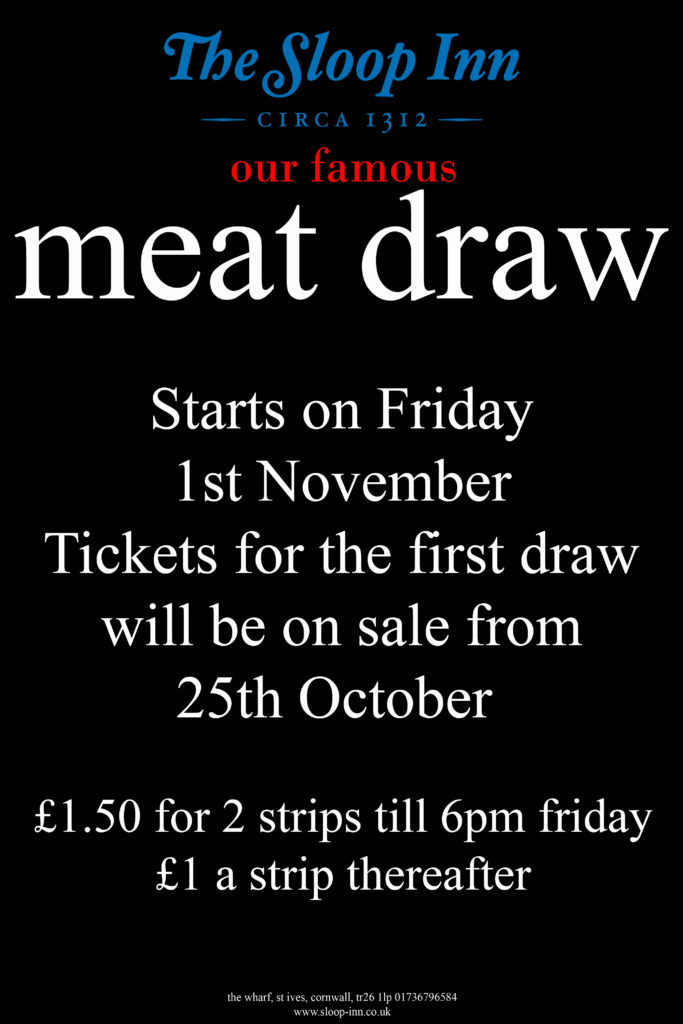 Our Famous Meat Draw is back!