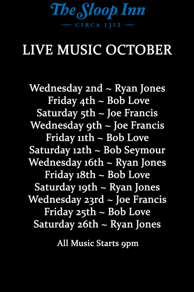 Live Music for October in the Cellar Bar