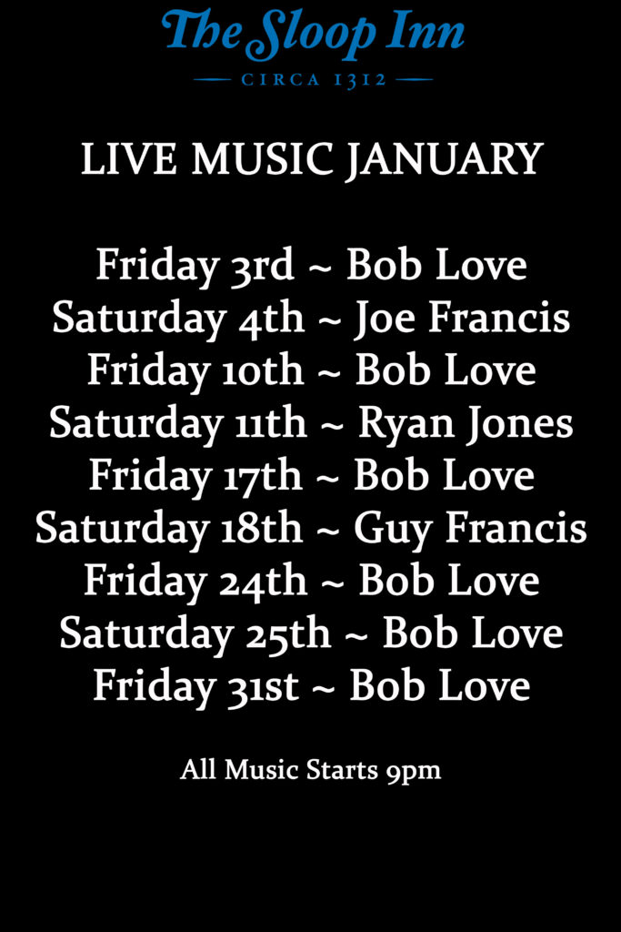 Live Music for January in the Cellar Bar